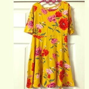 Old Navy Floral Print Skater Dress Size L 10-12